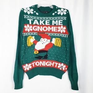 Take Me Gnome Tonight ugly Christmas sweater.